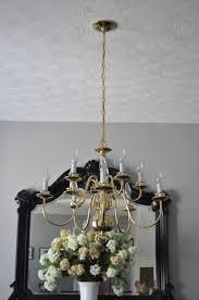 easy chandelier update interiors