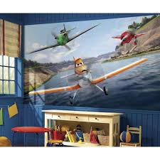 roommates 72 in x 126 in disney planes xl chair rail pre pasted