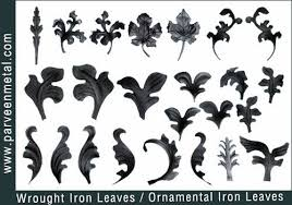 wrought iron components and ornamental iron hardware for gates parts