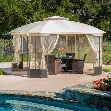 patio furniture gazebo shop best selling home decor westerly camel steel octagon screened