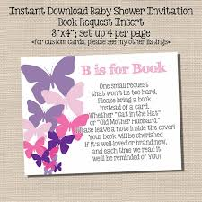 book instead of card baby shower poem insert for baby shower invite ask for a book instead of a card