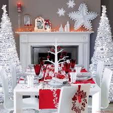 living room dining room christmas decorations red gold painting