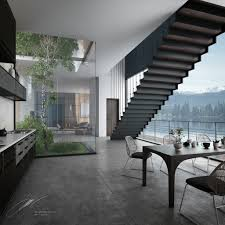the foggy lake house u0027s interiors on behance