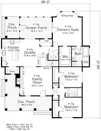 Traditional Floor Plan House Plan 42504 At Familyhomeplans Com