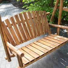 decor perfect wicker porch swing for your outdoor decoration