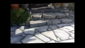 Building Flagstone Patio How To Install Flagstone Patio Youtube