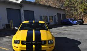 Yellow Mustang With Black Stripes Mustang Car Skins Gallery