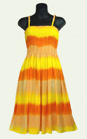 sarongsetc com striped tie dye shirred top sun dress