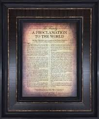 framed family proclamation proclamation 13 x 15 seagull book