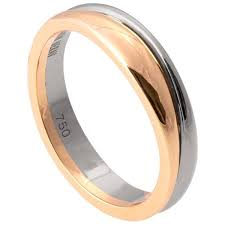 two tone wedding bands geo two tone wedding band white and yellow gold 2 doron merav