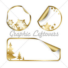 golden christmas vector labels gl stock images