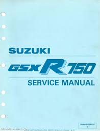 1990 suzuki gsxr750 motorcycle service manual