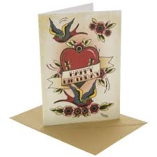 tattoo heart birthday card at beadesaurus free uk shipping over 25