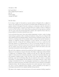 Curriculum Map Template Cover Letter For College Professor College Instructor Cover