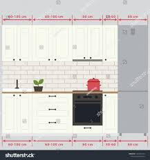 what are the sizes of kitchen cabinets sizes kitchen cabinets ergonomics kitchen vector stock