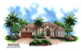 mediterranean house plan 1 story small home floor plan with pool