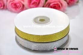 metallic ribbon gold silver metallic ribbon 3 8 25y ribbons gold silver