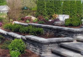 Retaining Wall Landscaping Around Deck In Rockford Il R E Marshall - Retaining wall designs ideas