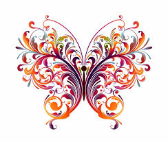 abstract designs to draw abstract floral butterfly vector
