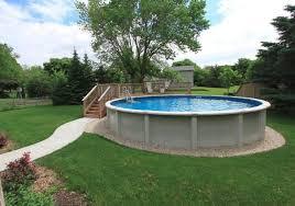above ground pool with partial deck and sidewalk u2026 pinteres u2026