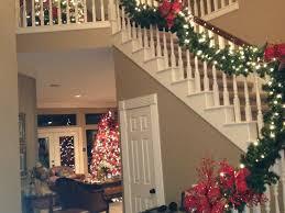 Pinterest Holiday Decorations Christmas Decorations Banister Stair Banister Christmas Decorating