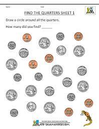 coin worksheets for kindergarten free worksheets library
