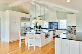 Kitchen Decor White Cabinets Modern Kitchen Blue And White Kitchen Ideas With Wooden Material