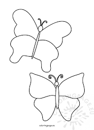 simple butterfly template coloring page