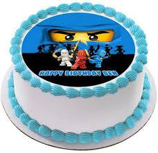 ninjago cake ninjago blue blue edible cake topper cupcake toppers