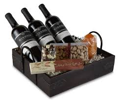 wine gift basket executive appreciation 3 bottle gift set