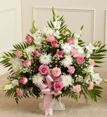 funeral arrangement tribute pink and white funeral arrangement funeral sympathy in