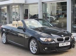 used bmw 3 series uk used bmw 3 series 2007 black paint petrol 320i m sport convertible