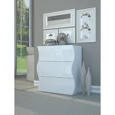 meuble chambre blanc laqué meubles de chambre blanc laquee brillante achat vente pas cher