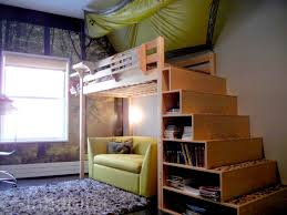 Build Loft Bed With Stairs by 9 Storage Solutions For Small Spaces Storage Stairs