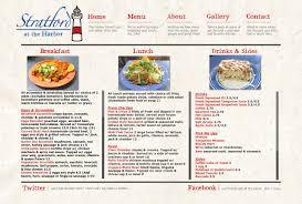 stratford at the harbor menu