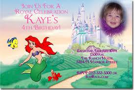 little mermaid birthday invitations ariel birthday invitations
