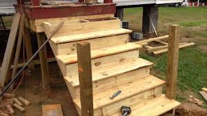 How To Build A Freestanding Patio Roof by How To Build A Deck Onto A Used Mobile Home Youtube