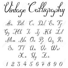 calligraphy font vintage calligraphic script font linear vector handmade