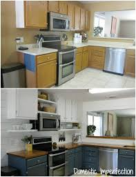 Painted Kitchen Cabinets Before And After by My Painted Kitchen Cabinets Five Years Later Domestic Imperfection