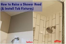 How To Fix A Bathtub Faucet Handle How To Raise And Install Tub Shower Fixtures