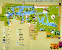 Travel Maps Travel Map Of Humble Administrator U0027s Garden Zhuozheng Garden Travel