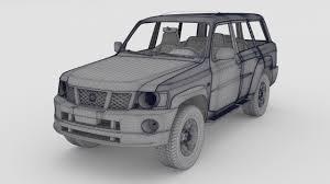 nissan patrol 2016 black 3d model nissan patrol 2006 cgtrader