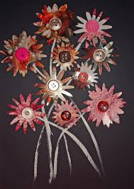 mail flowers craft and activities for all ages make a junk mail flower collage