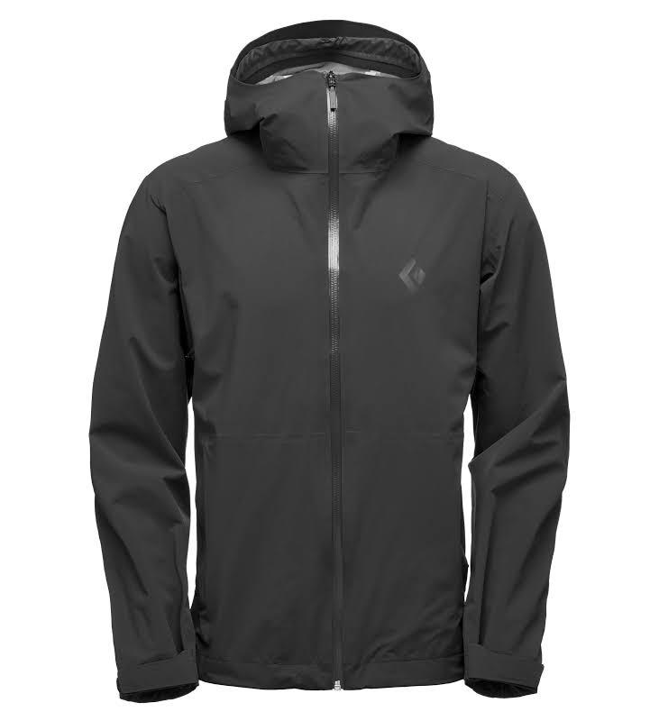 Black Diamond Stormline Stretch Rain Shell Jacket Men Ash Large APCDT0030LRG1