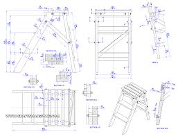 Wooden Chair Plans Free Download by Folding Step Ladder Plan