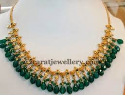 emerald gold necklace jewelry images Emerald drops gold necklace gold necklaces emeralds and drop jpg