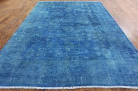 overdyed full pile 9 x 12 persian area rug
