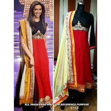 deepika padukone red bollywood replica designer suit latest