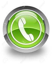 phone icon on green glossy button stock photo picture and royalty