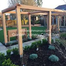 bespoke curved oak framed pergola for a wedding venue supplied